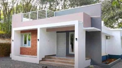 Photo of 1000 Sq Ft 2BHK Contemporary Style Single Floor House and Free Plan, 10 Lacks