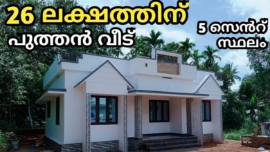 Photo of 1000 Sq Ft 3BHK Modern Single Floor House at 5 Cent, 26 Lacks