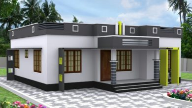 Photo of 1050 Sq Ft 3BHK Modern Single Floor House and Free Plan, 14 Lacks