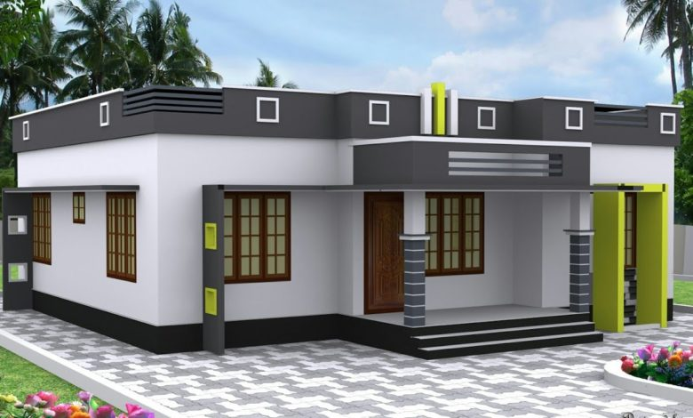 1050 Sq Ft 3BHK Modern Single Floor House and Free Plan, 14 Lacks