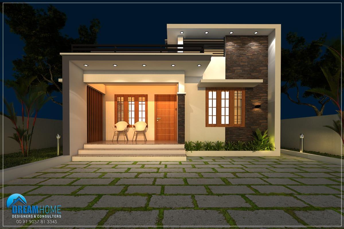 1080 Sq Ft 2BHK Modern Single Floor House and Free Plan, 18.5 Lacks
