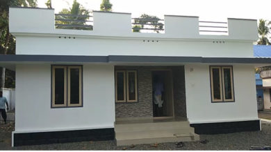 Photo of 1084 Sq Ft 3BHK Simple Single Floor House and Free Plan
