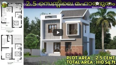 Photo of 1110 Sq Ft 3BHK Colonial Mix Style Two-Storey House and Free Plan