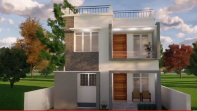 Photo of 1296 Sq Ft 4BHK Modern Flat Roof Two-Storey House and Free Plan