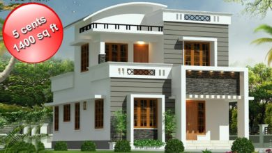 Photo of 1400 Sq Ft 3BHK Contemporary Style Double Floor House and Free Plan