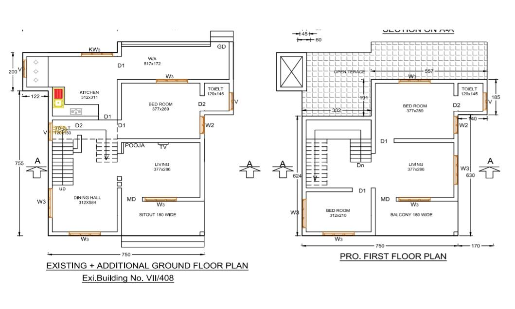 1650 Sq Ft 3BHK Beautiful Double Floor House and Free Plan