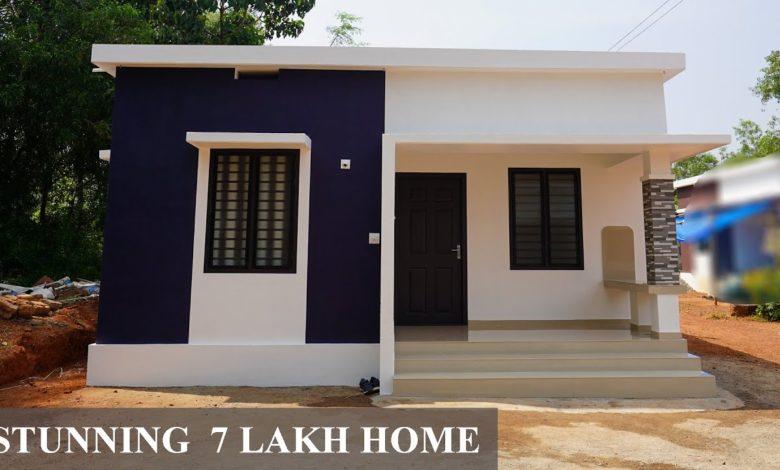 500 Sq Ft 2BHK Modern Low Budget Single Floor House, 7 Lacks