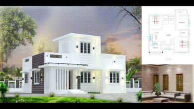 Photo of 700 Sq Ft 2BHK Modern Single-Storey House and Free Plan, 9 Lacks