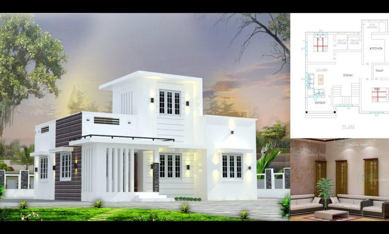700 Sq Ft 2BHK Modern Single-Storey House and Free Plan, 9 Lacks