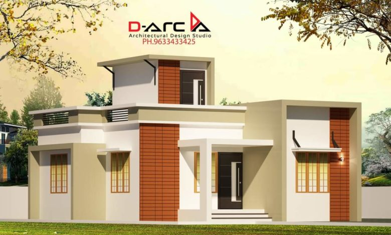 720 Sq Ft 2BHK Contemporary Style Single-Storey House and Free Plan, 10 Lacks