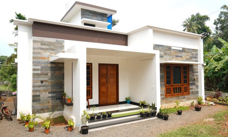 750 Sq Ft 2BHK Modern Single Floor House at 5 Cent