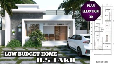 Photo of 850 Sq Ft 2BHK Contemporary Style Single Floor House and Free Plan, 11.5 Lacks
