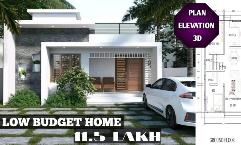 850 Sq Ft 2BHK Contemporary Style Single Floor House and Free Plan, 11.5 Lacks