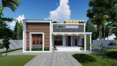 Photo of 900 Sq Ft 2BHK Contemporary Style Single-Storey House and Interior