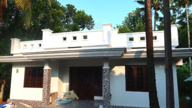 Photo of 984 Sq Ft 3BHK Modern Single Floor House and Free Plan