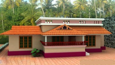 Photo of 1000 Sq Ft 3BHK Traditional Style Single Floor House and Free Plan