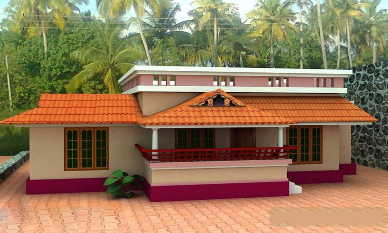 1000 Sq Ft 3BHK Traditional Style Single Floor House and Free Plan
