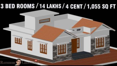 Photo of 1055 Sq Ft 3BHK Traditional Style House and Free Plan, 14 Lacks