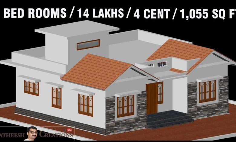 1055 Sq Ft 3BHK Traditional Style House and Free Plan, 14 Lacks