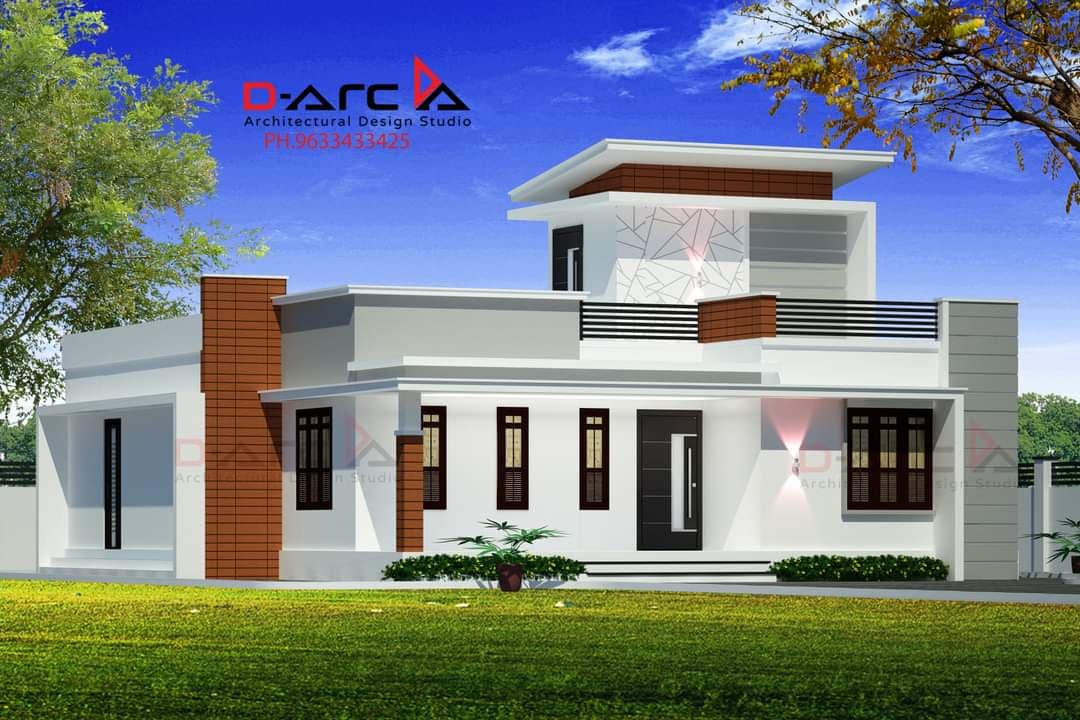1235 Sq Ft 2BHK Contemporary Style Single Floor House and Free Plan, 20 Lacks