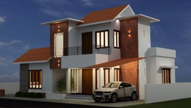 Photo of 1248 Sq Ft 3BHK Contemporary Mix Style House and Free Plan, 15 Lacks