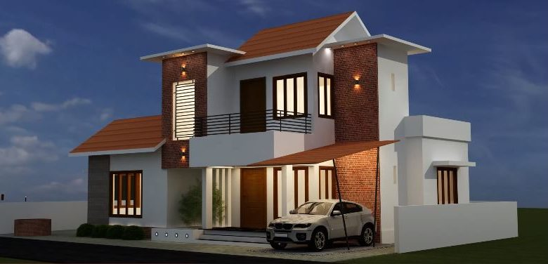 1248 Sq Ft 3BHK Contemporary Mix Style House and Free Plan, 15 Lacks