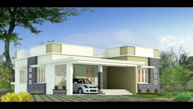 Photo of 1285 Sq Ft 3BHK Modern Flat Roof Single-Storey House and Free Plan