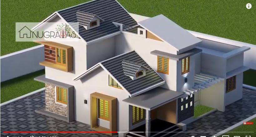 1400 Sq Ft 3BHK Colonial Style Two-Storey House and Free Plan, 18 Lacks