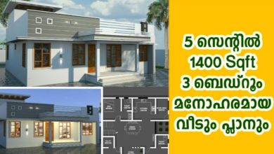 Photo of 1400 Sq Ft 3BHK Modern Single-Storey House and Free Plan