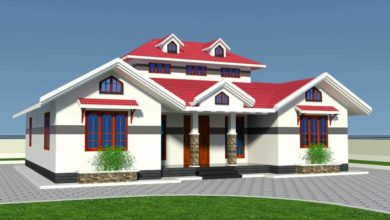 Photo of 1412 Sq Ft 3BHK Traditional Style Single-Storey House and Free Plan