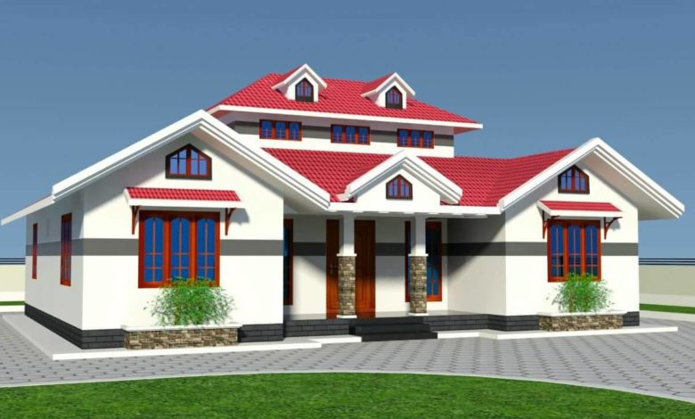 1412 Sq Ft 3BHK Traditional Style Single-Storey House and Free Plan