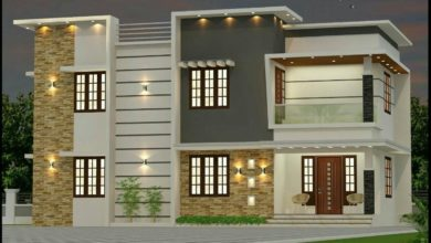 Photo of 1645 Sq Ft 3BHK Modern Two-Storey House and Free Plan