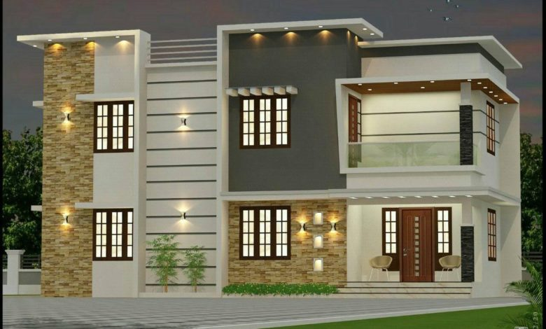 1645 Sq Ft 3BHK Modern Two-Storey House and Free Plan