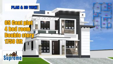 Photo of 1750 Sq Ft 4BHK Contemporary Style Two-Storey House and Free Plan