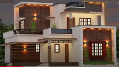 Photo of 1850 Sq Ft 4BHK Contemporary Style Two-Storey House and Free Plan