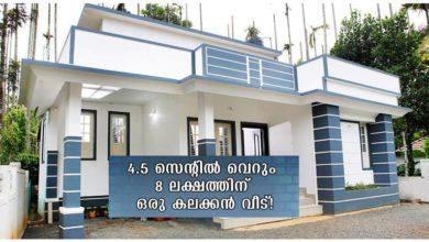 Photo of 1BHK Modern House at 4.5 Cent Plot, Free Plan, 8 Lacks