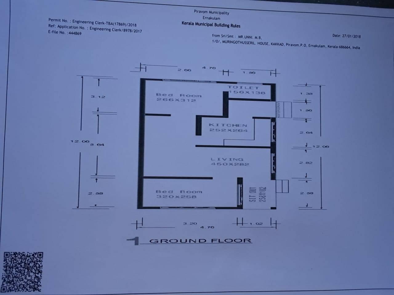 2 Bedroom Low Budget Single Floor House, Free Plan, 10 Lacks