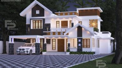 Photo of 2400 Sq Ft 4BHK Contemporary Style Two-Storey House and Free Plan