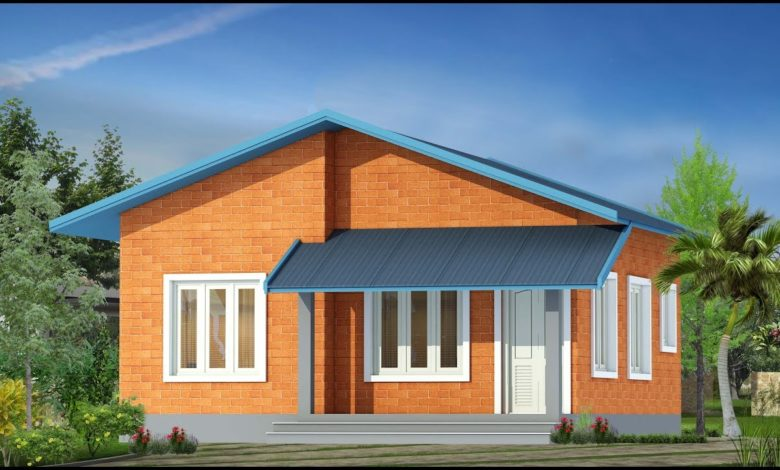 650 Sq Ft 2BHK Slope Roof Design Single Floor House and Free Plan, 5 Lacks