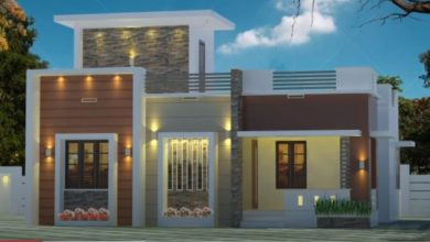 Photo of 725 Sq Ft 2BHK Contemporary Modern Single Floor House and Free Plan