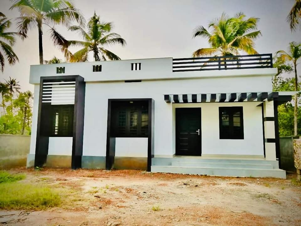 725 Sq Ft 2BHK Modern Single-Storey Low Budget House and Free Plan