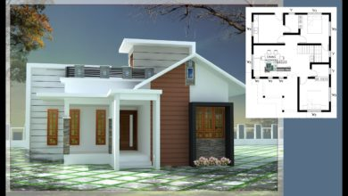 Photo of 750 Sq Ft 2BHK Contemporary Style Single Floor House and Free Plan