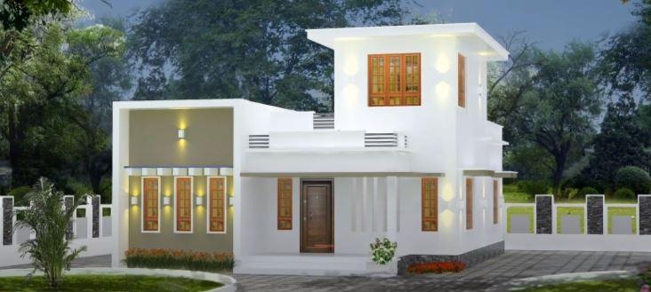 750 Sq Ft 2BHK Modern Single-Storey House and Free Plan