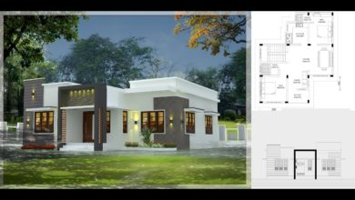 Photo of 800 Sq Ft 2BHK Fusion Style Single-Storey House and Free Plan