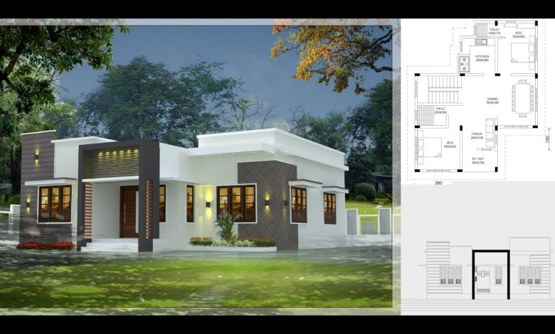 800 Sq Ft 2BHK Fusion Style Single-Storey House and Free Plan