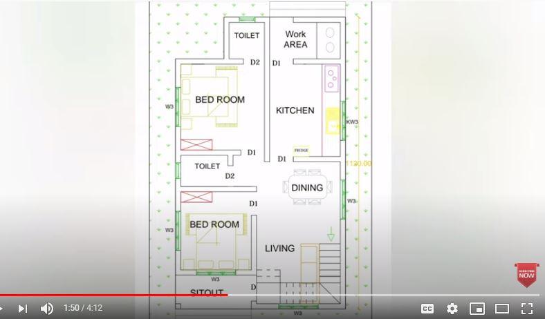 800 Sq Ft 2BHK Modern Single Floor House and Free Plan, 10 Lacks