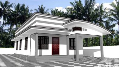 Photo of 856 Sq Ft 2BHK Contemporary Style Single-Storey House and Free Plan