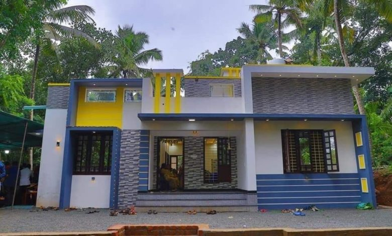 1000 Sq Ft 3BHK Contemporary Style Single Floor House and Free Plan
