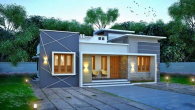 Photo of 1084 Sq Ft 3BHK Modern Single Floor House and Free Plan