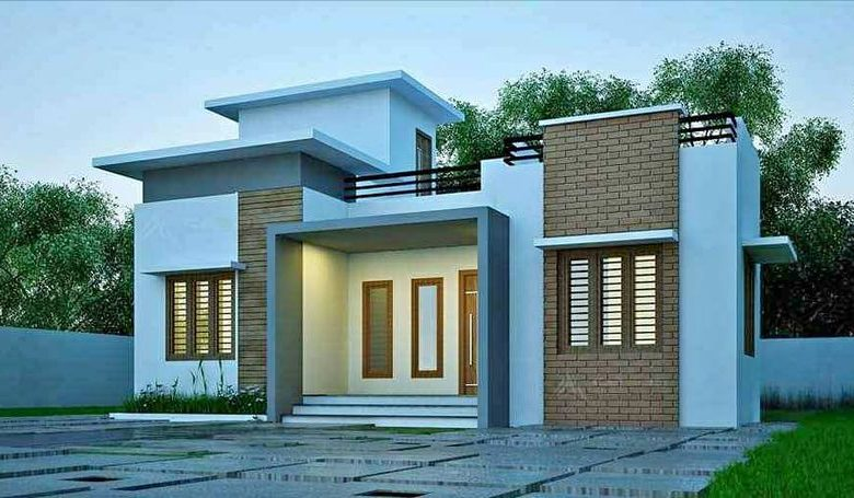 1084 Sq Ft 3BHK Single Floor Modern Low Budget House and Free Plan